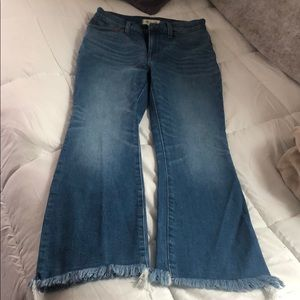 Madewell Cali denim jeans, frayed at the ankle